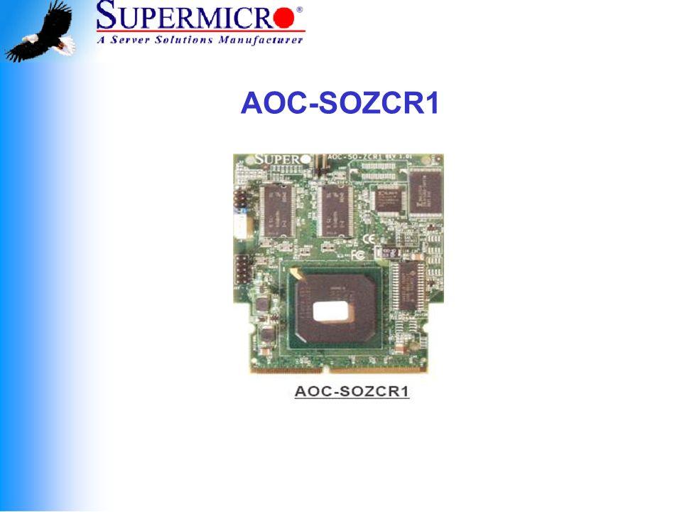 Supermicro All-in-One ZCR Cards All-in-One Zero-Channel RAID Cards: AOC-LPZCR1 and AOC-SOZCR1.