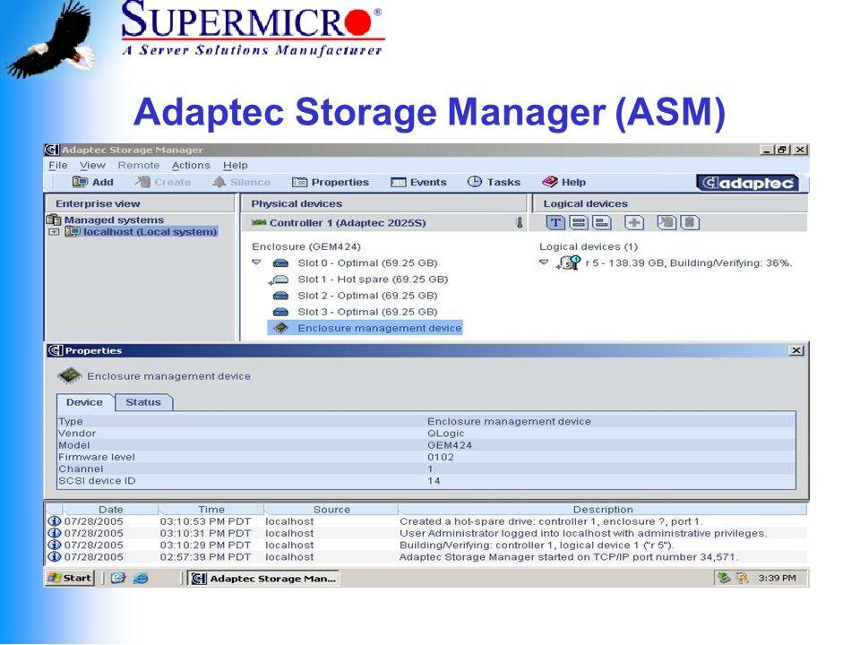 Adaptec Configuration Utility (ACU)