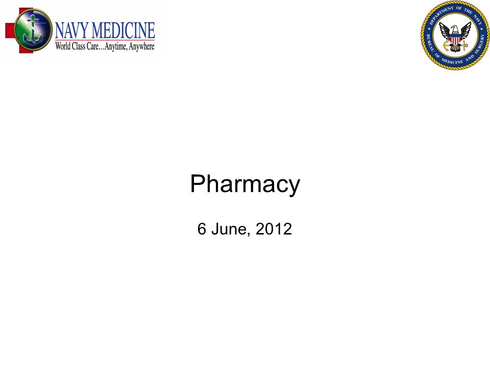 Pharmacy 6 June, 2012