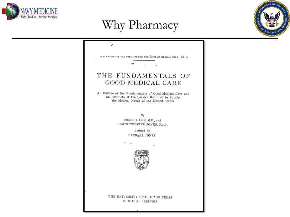 Why Pharmacy