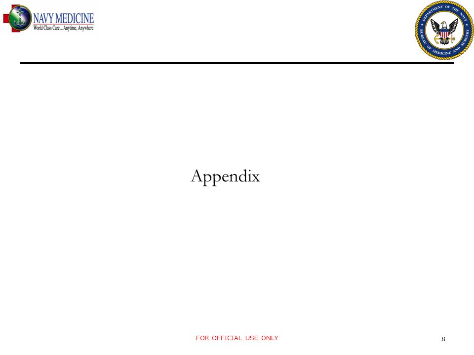 Appendix FOR OFFICIAL USE ONLY 8