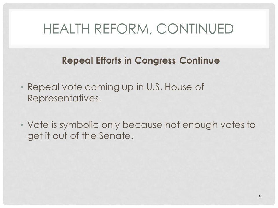 HEALTH FSA AND CAFETERIA PLAN ADMINISTRATION, CONTINUED Health Reform Law The Supreme Court just upheld the health care law.