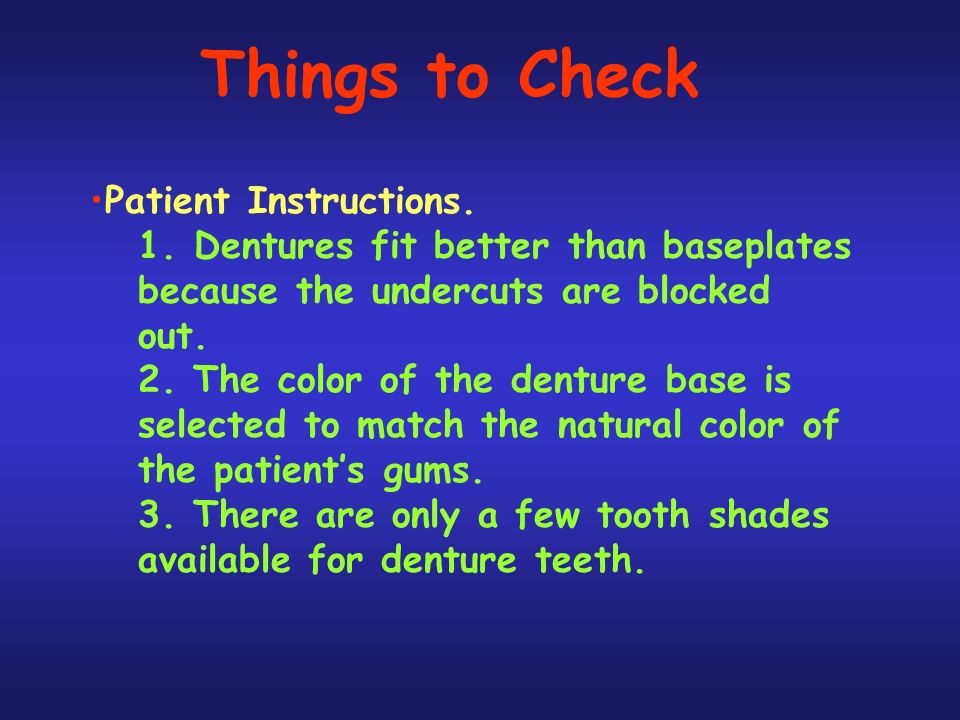 Things to Check Patient Instructions.1.