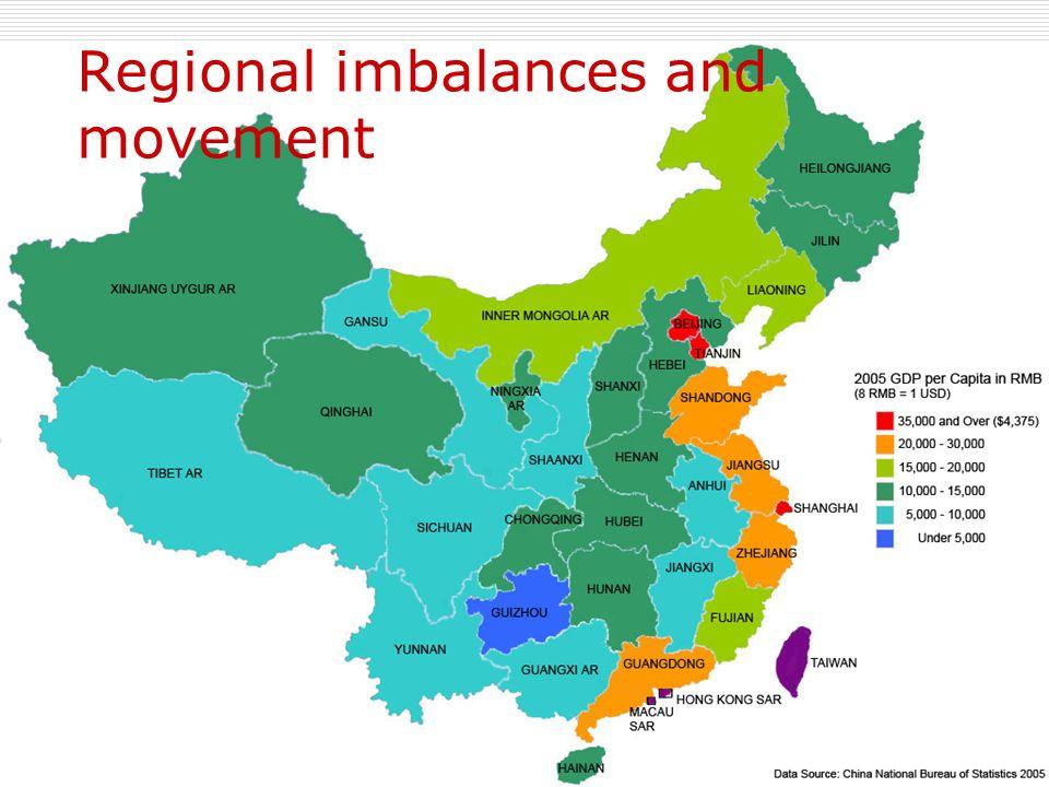 Regional imbalances and movement