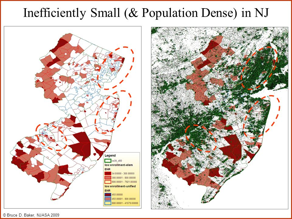 Inefficiently Small (& Population Dense) in NJ © Bruce D. Baker, NJASA 2009
