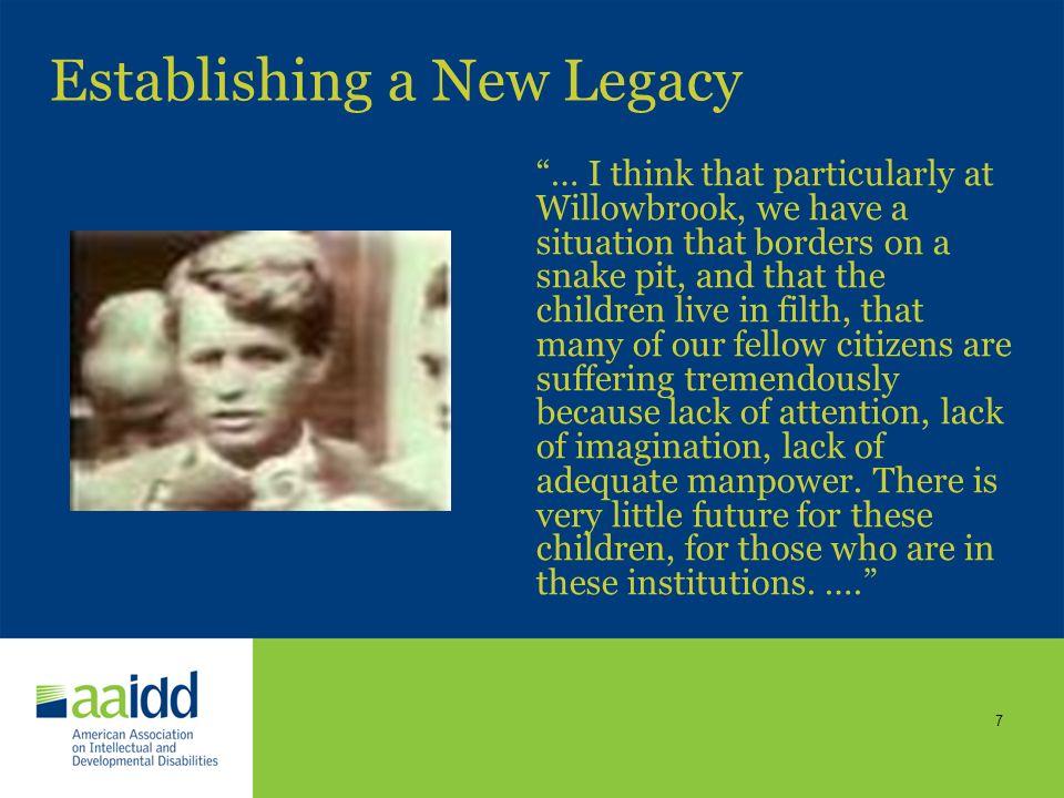 6 The AAIDD Legacy Burton Blatt, EdD President 1976 to 1977 1876 1976 Edouard Seguin, M.D. President 1876 to 1877
