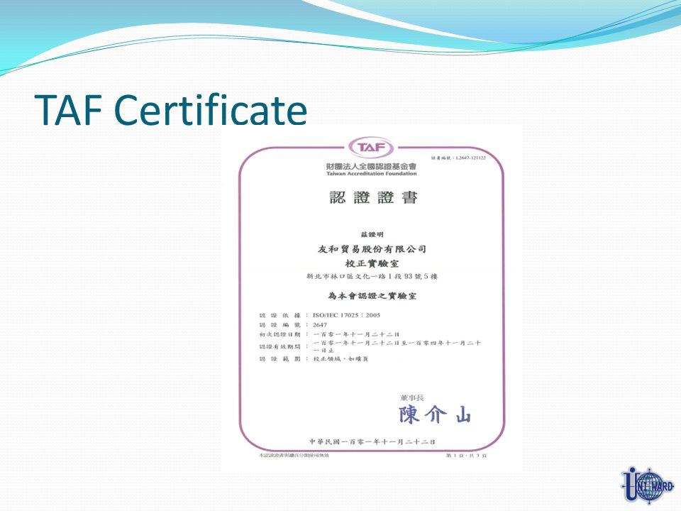 TAF Certificate