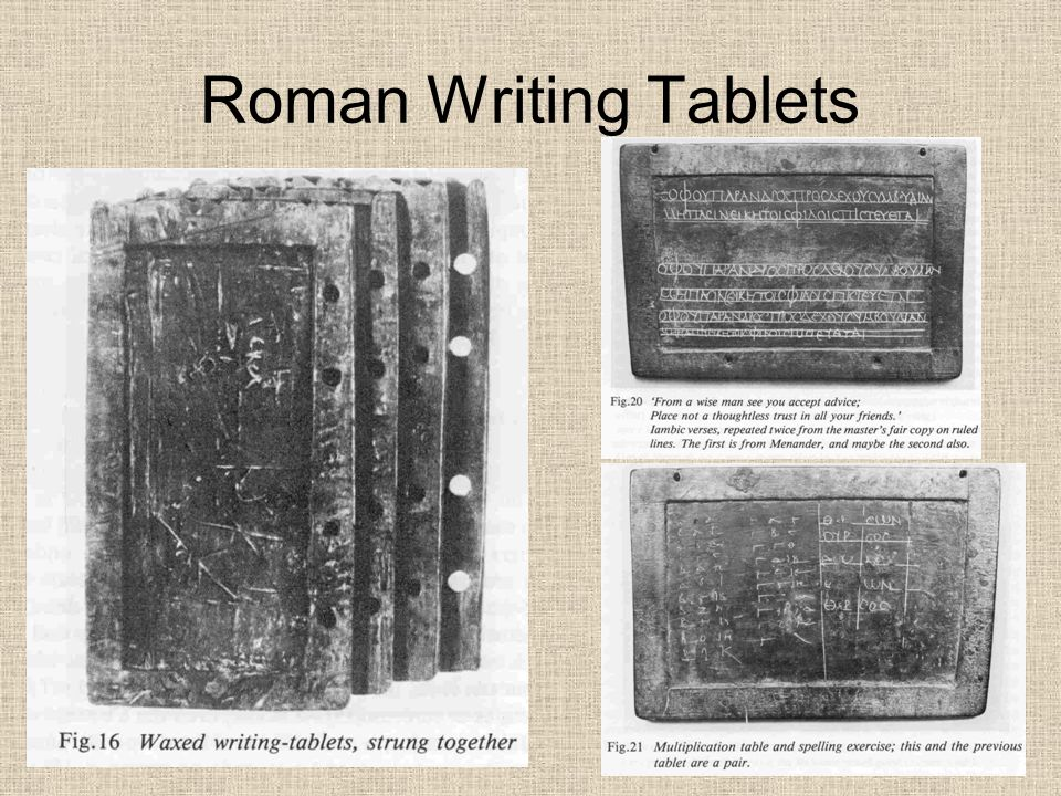Roman Writing Tablets