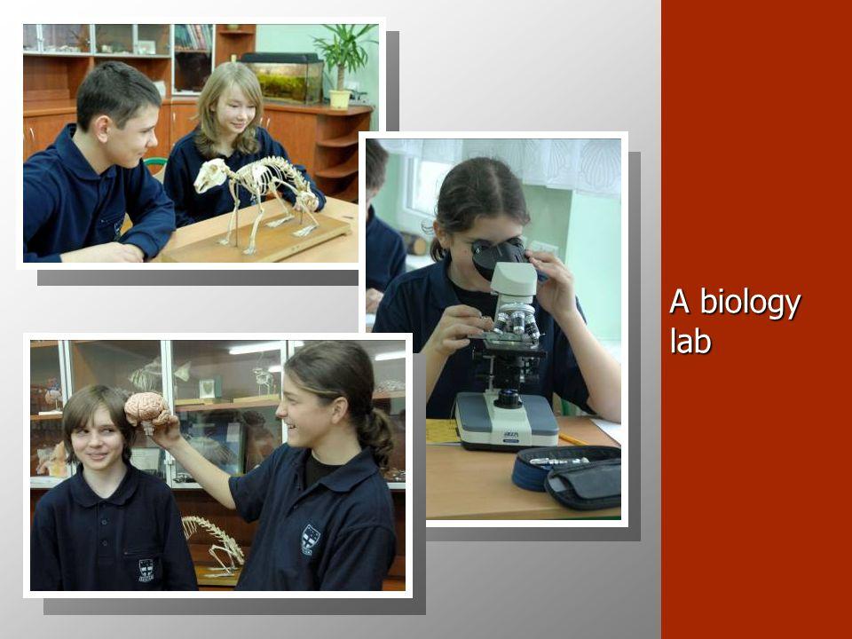 A biology lab