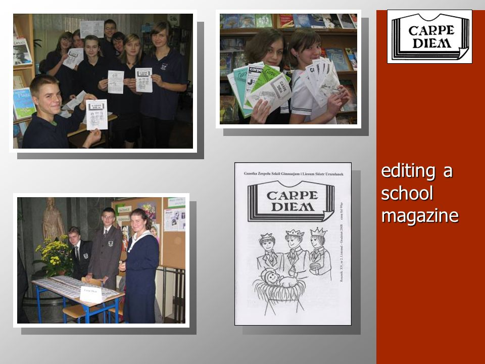 editing a school magazine