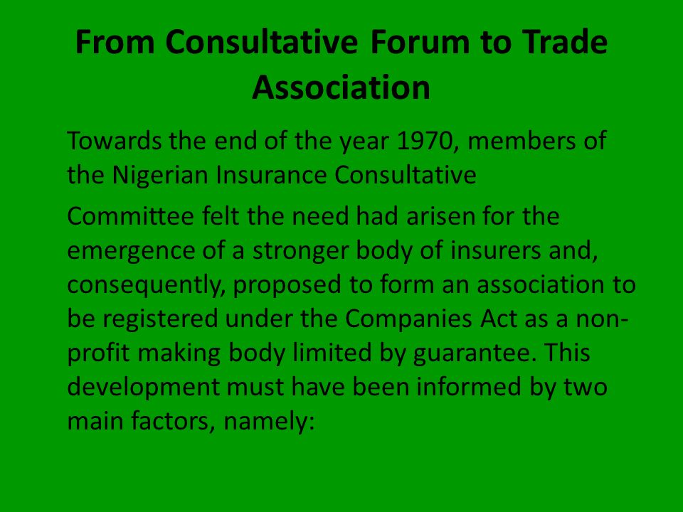 the Committee received tremendous assistance from the British Insurance Association (now Association of British Insurers). The assistance took the for