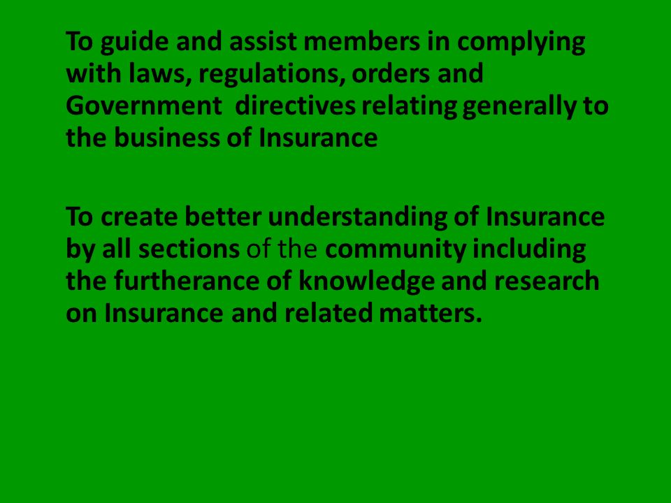 OUR OBJECTIVES The objectives of the Association are embodied in the Constitution of the Association. Some of them are highlighted as follows: To prot