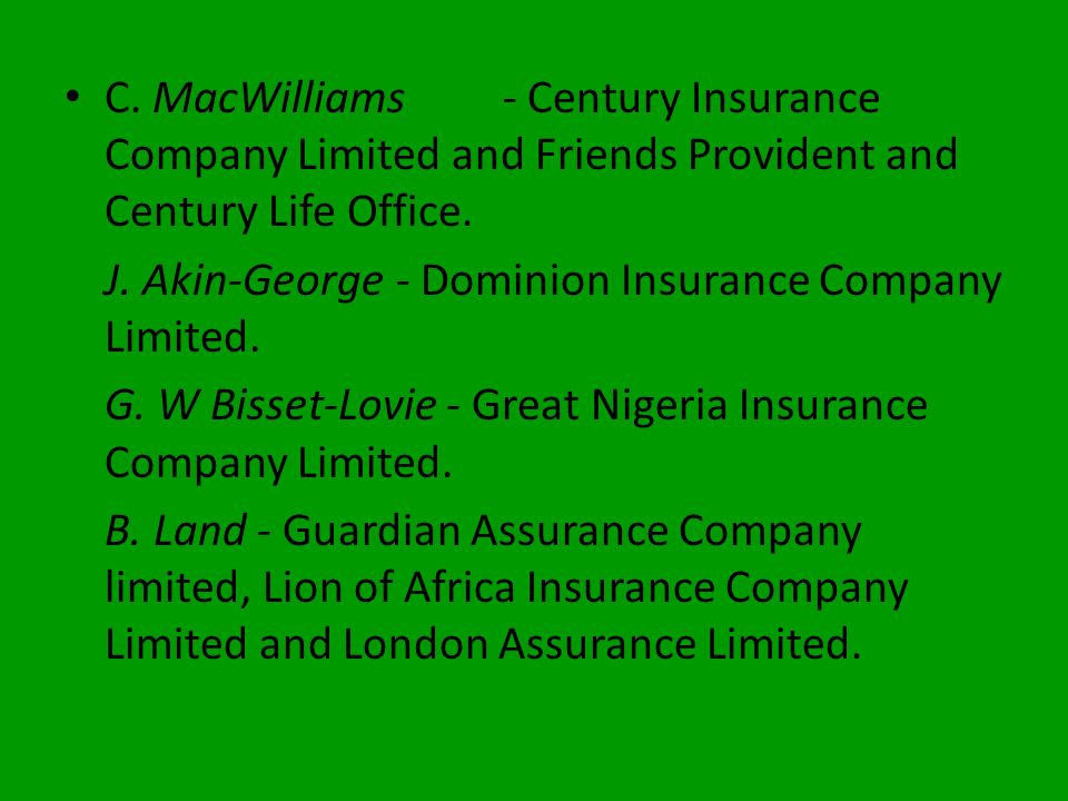On the 9th August, 1962, the representatives of insurance companies operating in the country met at the Anchor Building, Lagos in a renewed effort to