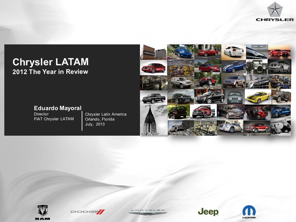 19 Chrysler Latin America Orlando, Florida July, 2013 Chrysler LATAM 2012 The Year in Review Eduardo Mayoral Director FIAT Chrysler LATAM