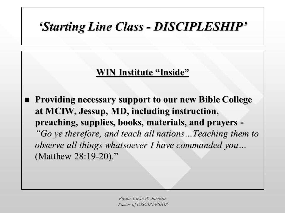 Pastor Kevin W.