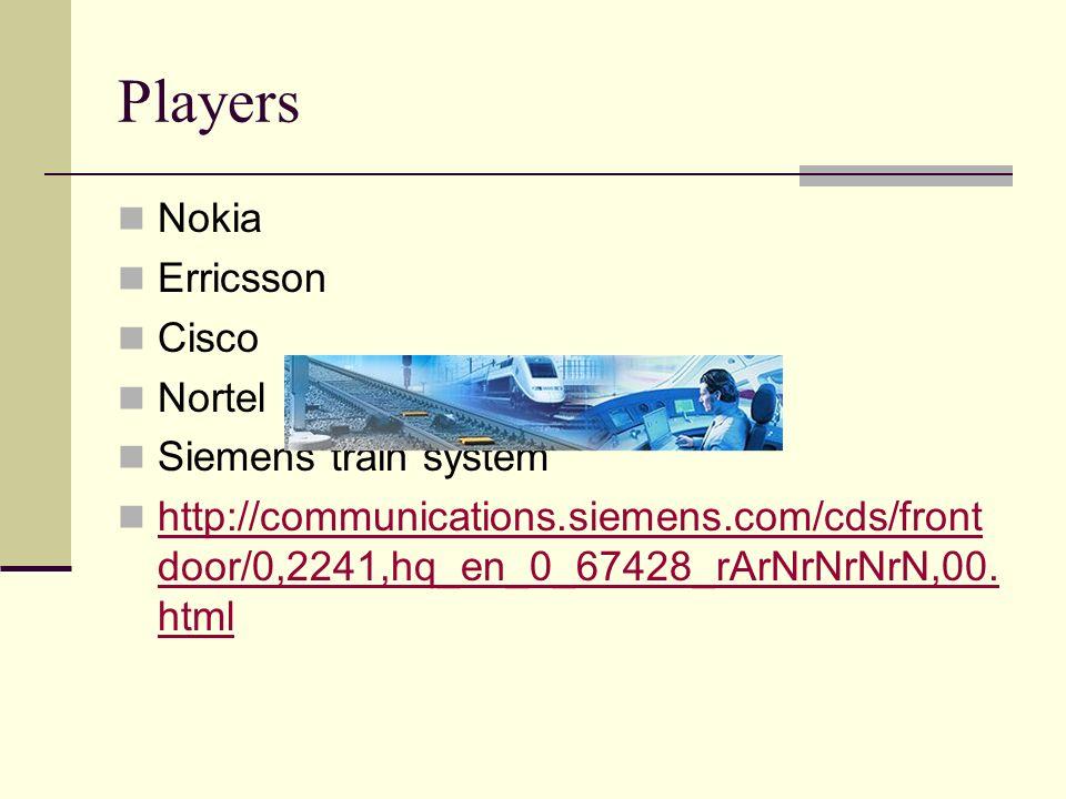 Players Nokia Erricsson Cisco Nortel Siemens train system http://communications.siemens.com/cds/front door/0,2241,hq_en_0_67428_rArNrNrNrN,00. html ht