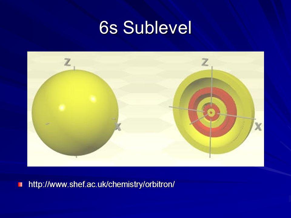 6s Sublevel http://www.shef.ac.uk/chemistry/orbitron/