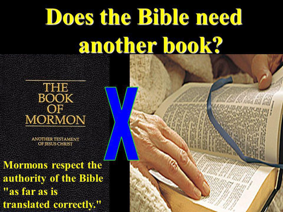 Does the Bible need another book.