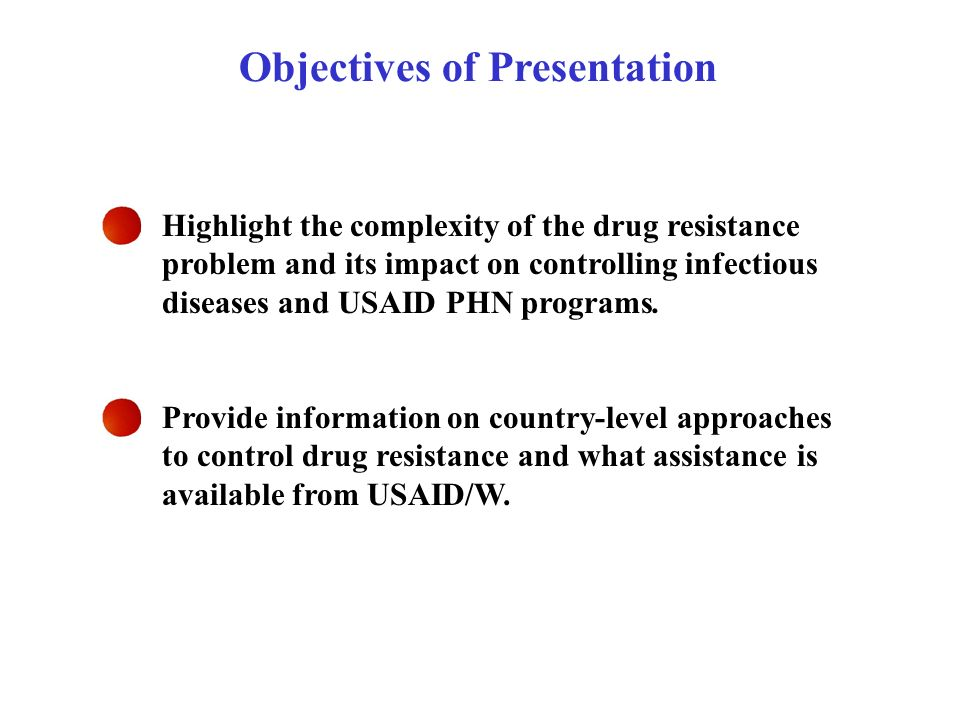 Highlight the complexity of the drug resistance problem and its impact on controlling infectious diseases and USAID PHN programs. Provide information