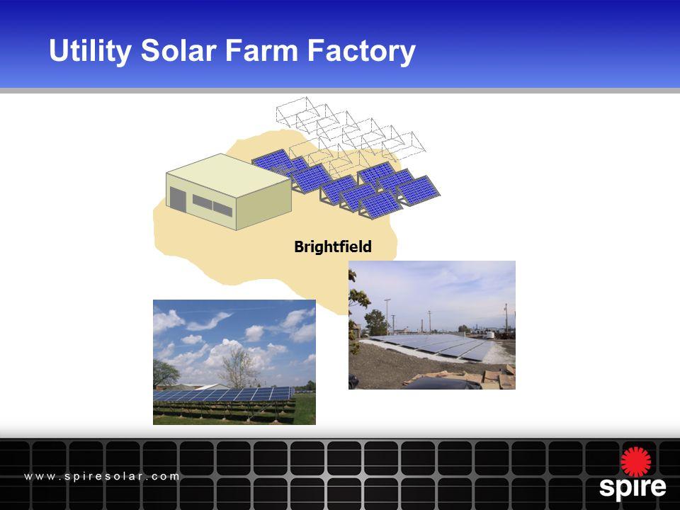Utility Solar Farm Factory Brightfield