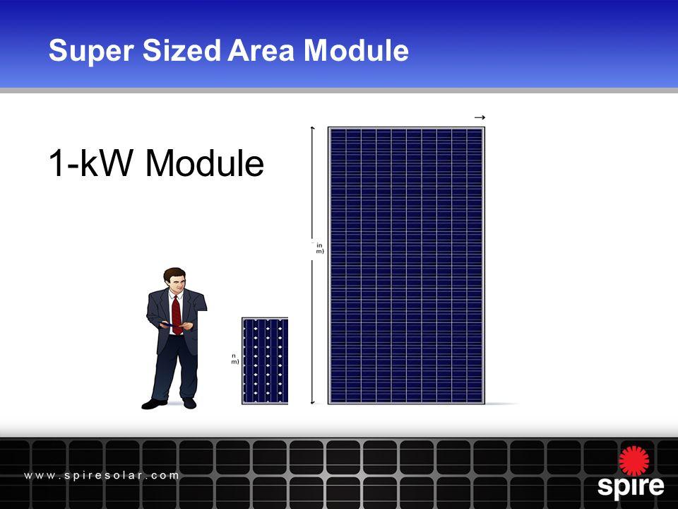 Super Sized Area Module 1-kW Module