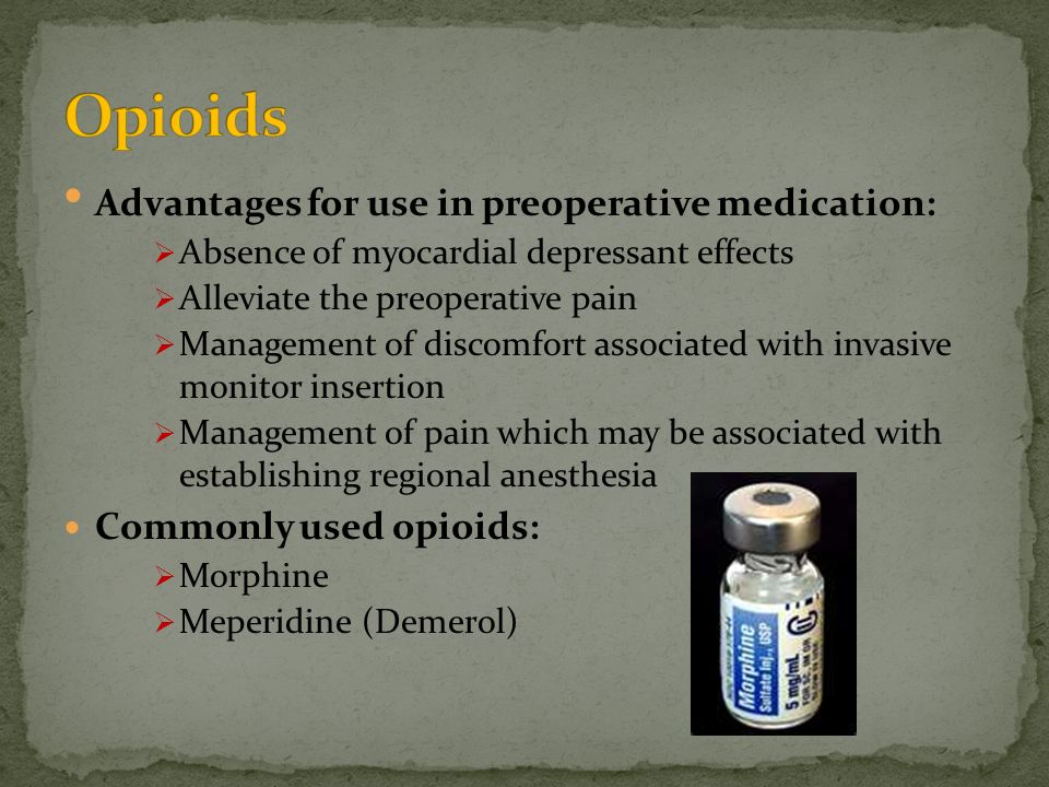 NSAID Given as a suppository in the short term.