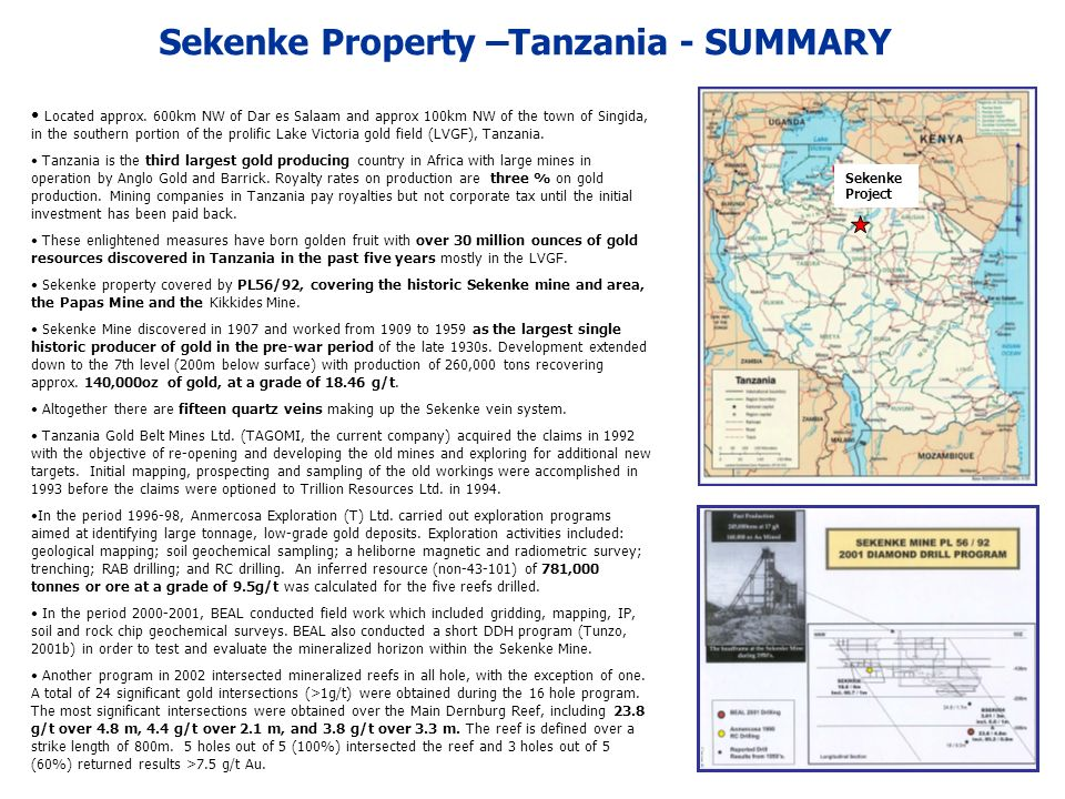 Sekenke Location Map -Tanzania Sekenke Property Tanzania, the largest nation in East Africa, borders Kenya to the north; Rwanda, Burundi and the Democratic Republic of Congo to the west; and Zambia and Mozambique to the south.