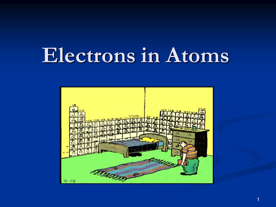 1 Electrons in Atoms