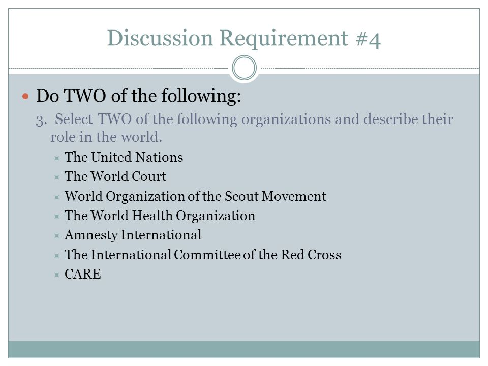 Discussion Requirement #6 Do the following: Explain how a government is represented abroad and how the United States government is accredited to international organizations.