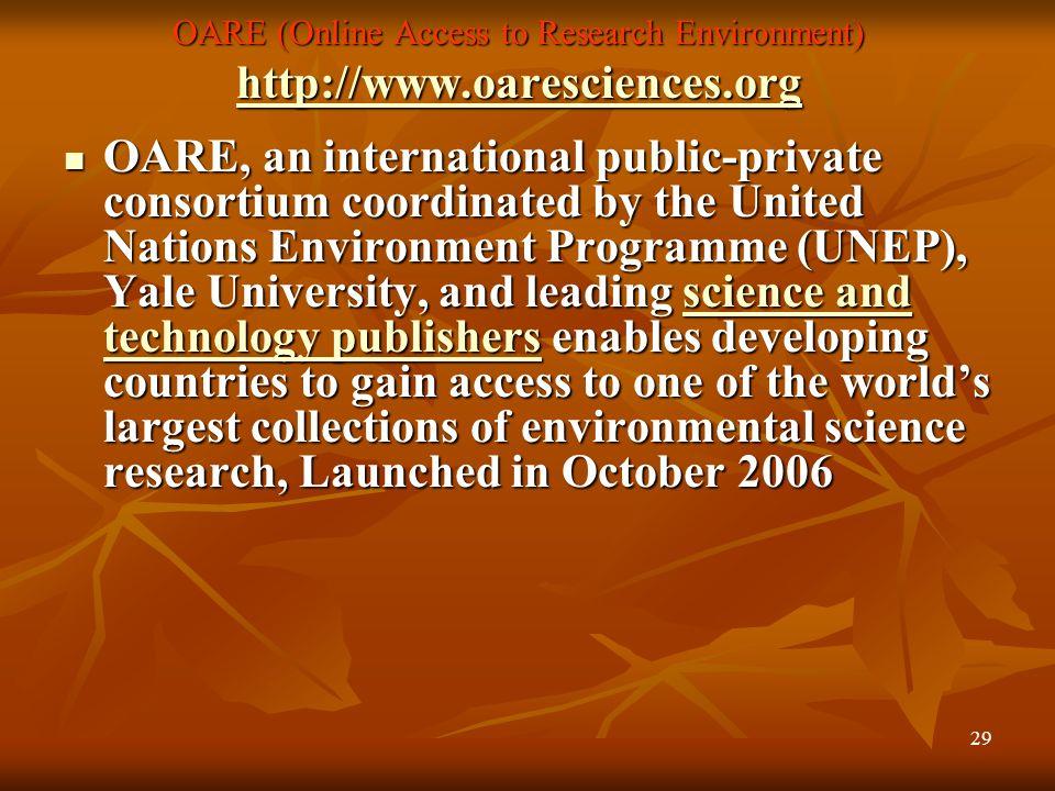 28 DOAJ (Directory of Open Access Journals ) URL: www.doaj.org URL: www.doaj.orgwww.doaj.org Head Office,Lund University Libraries, Lund, Sweden. Head