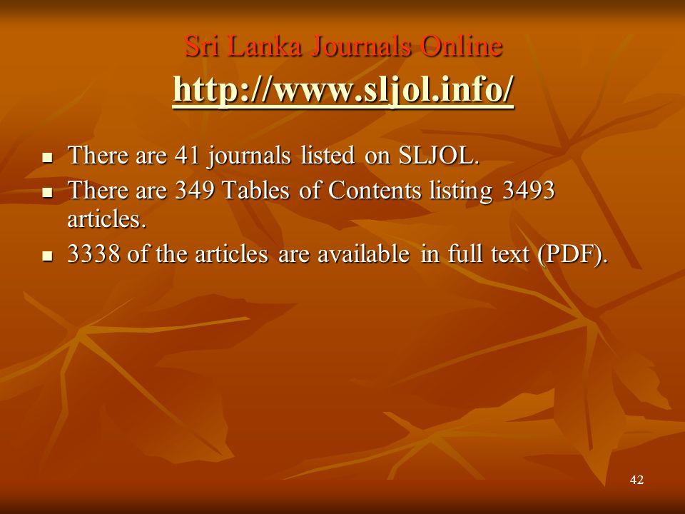 41 Bangladesh Journals Online http://www.banglajol.info/ http://www.banglajol.info/ There are 83 journals with There are 83 journals with 583 Tables o