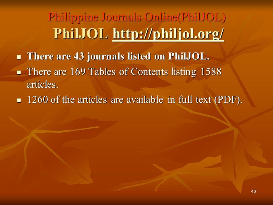 42 Sri Lanka Journals Online http://www.sljol.info/ http://www.sljol.info/ There are 41 journals listed on SLJOL. There are 41 journals listed on SLJO