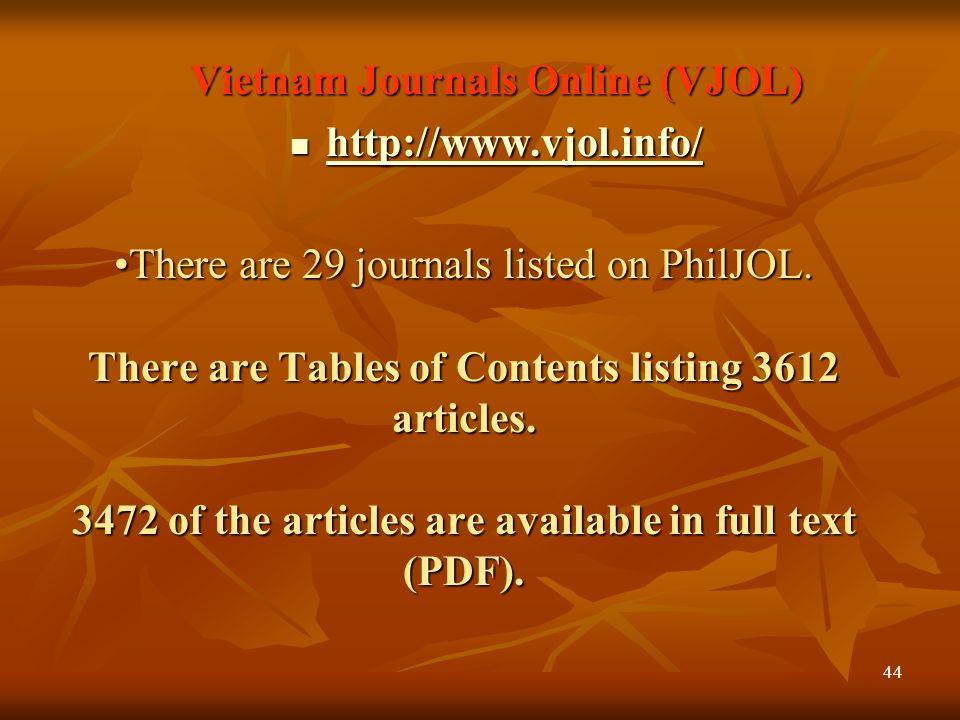 43 Philippine Journals Online(PhilJOL) PhilJOL http://philjol.org/ http://philjol.org/ There are 43 journals listed on PhilJOL. There are 43 journals