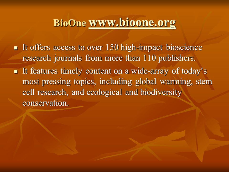 E-resources under eIFL.net BioOne www.bioone.org BioOne www.bioone.orgwww.bioone.orgwww.bioone.org Cambridge Journals Online www.journals.cambridge.or