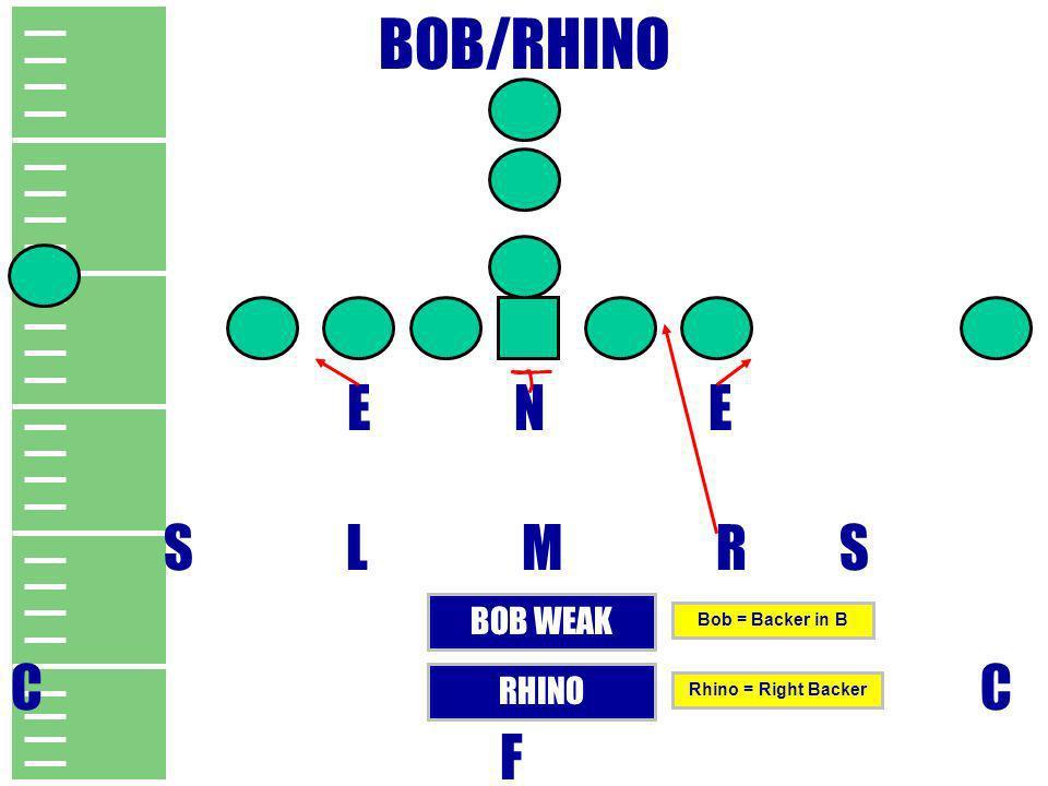 BOB/RHINO E N E S L M R S C F BOB WEAK RHINO Bob = Backer in B Rhino = Right Backer