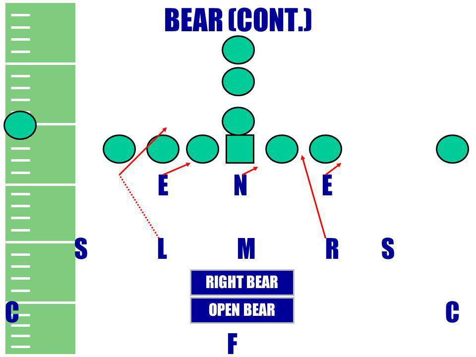 BEAR (CONT.) E N E S L M R S C F RIGHT BEAR OPEN BEAR