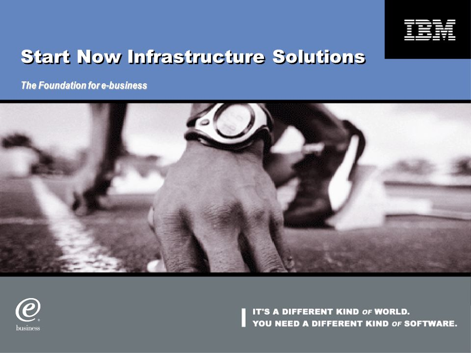 Start Now Infrastructure Solutions The Foundation for e-business