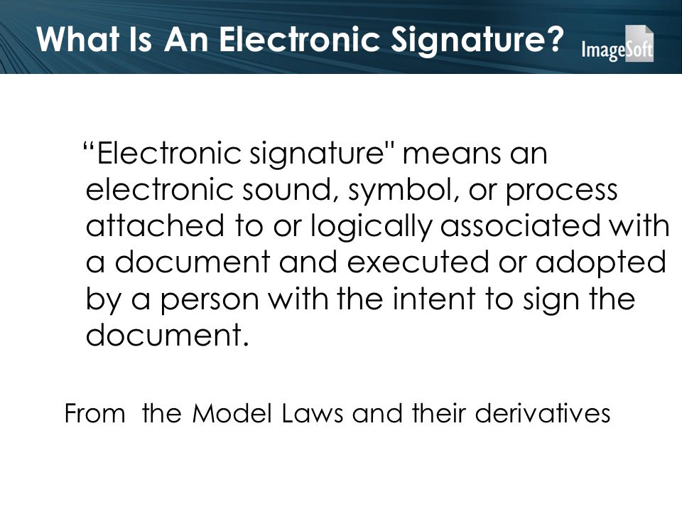 What Is An Electronic Signature.