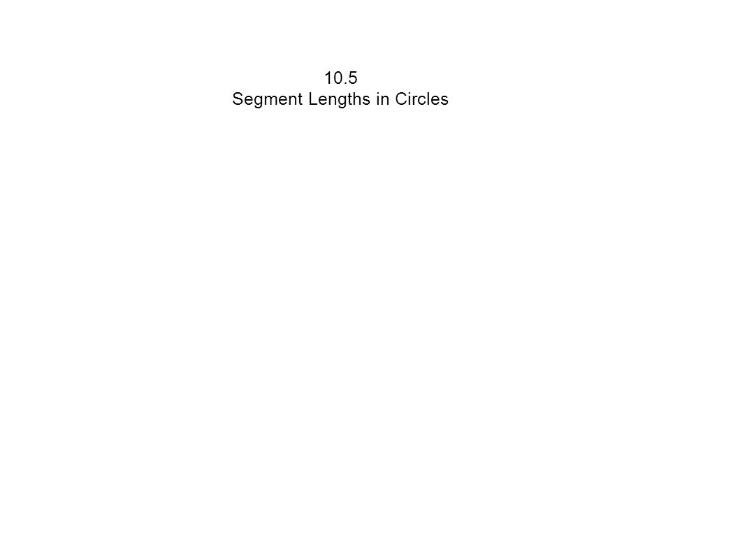 Segments of Chord Theorem If two chords intersect in the interior of a circle,then the product of the lengths of the segments of one chord is equal to the product of the lengths of the segments of the other chord.