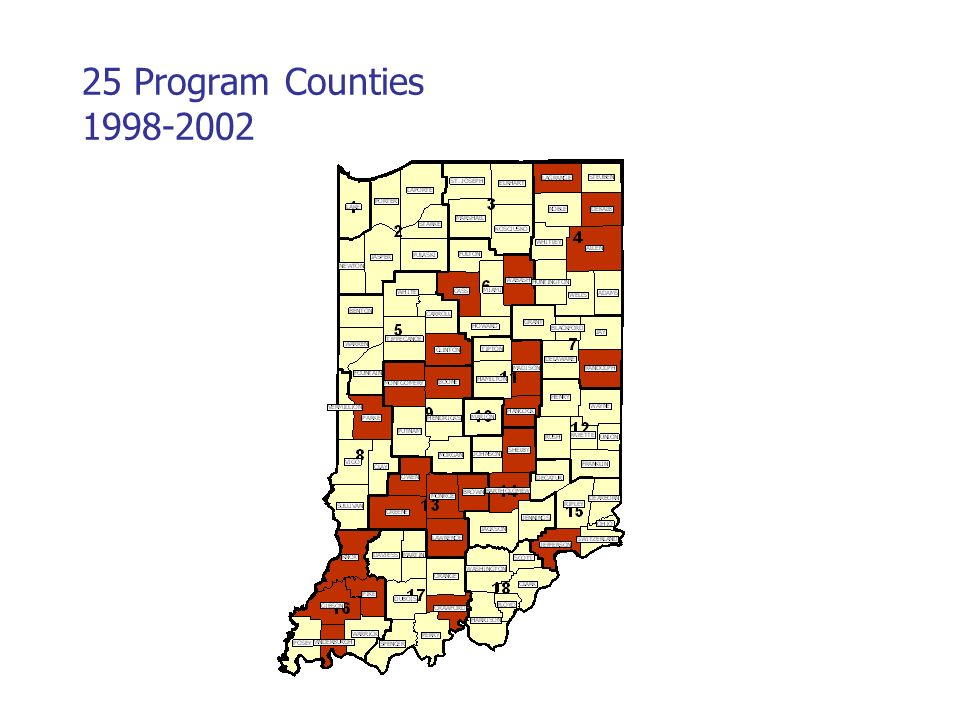 25 Program Counties
