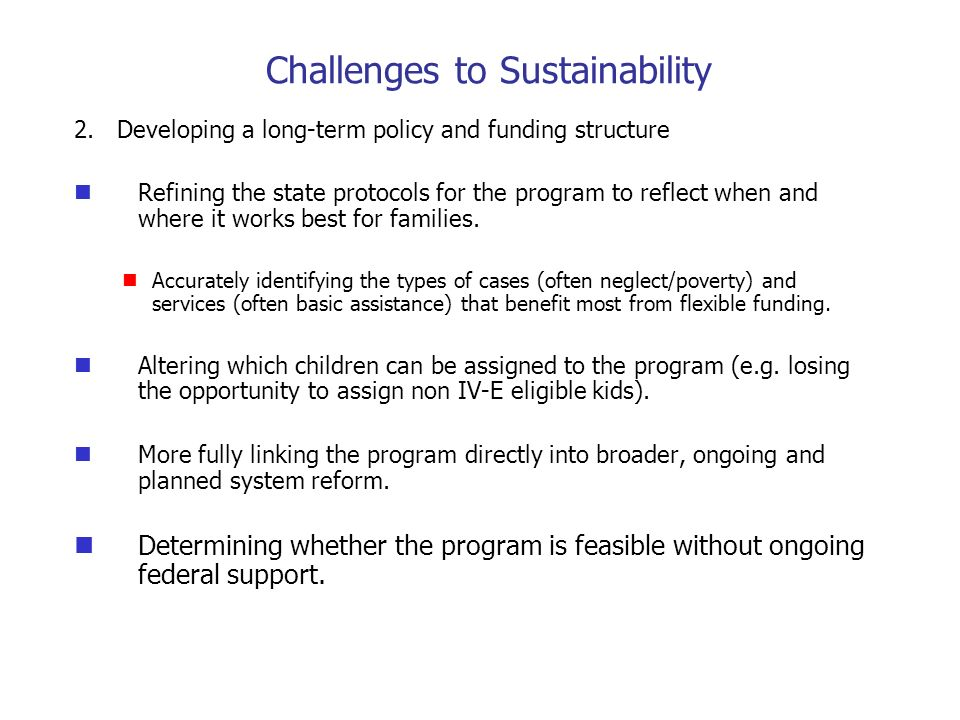 Challenges to Sustainability 2.