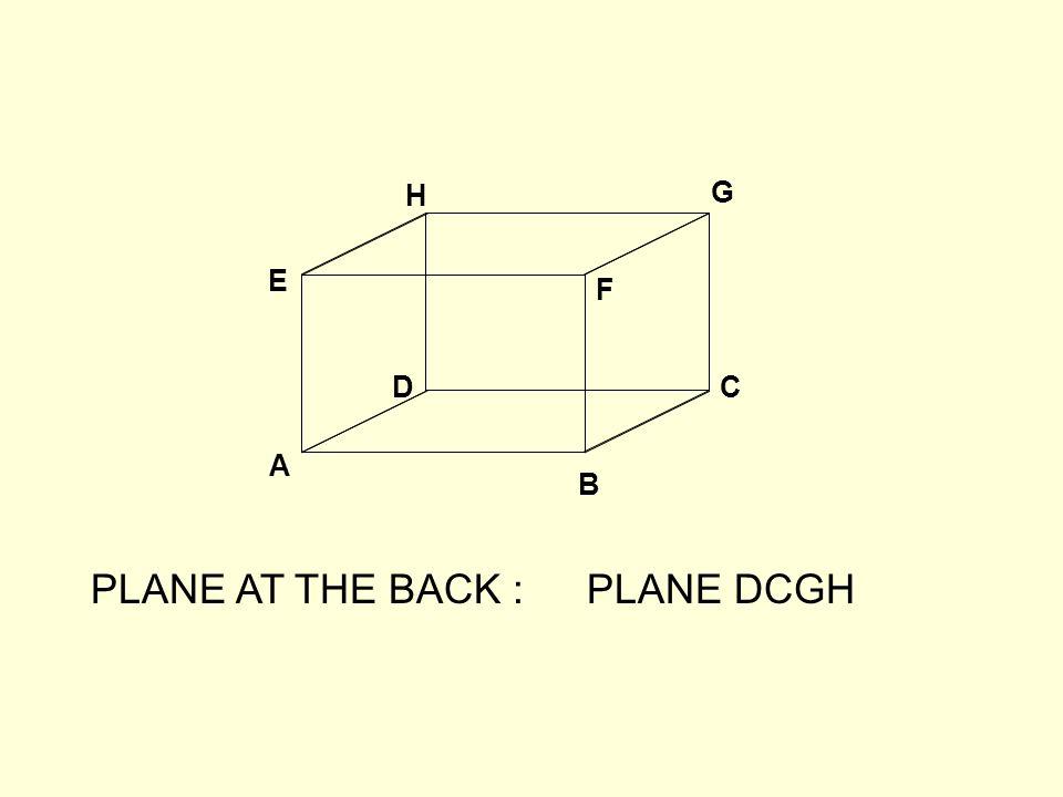 A B CD E F G H PLANE AT THE BACK :PLANE DCGH