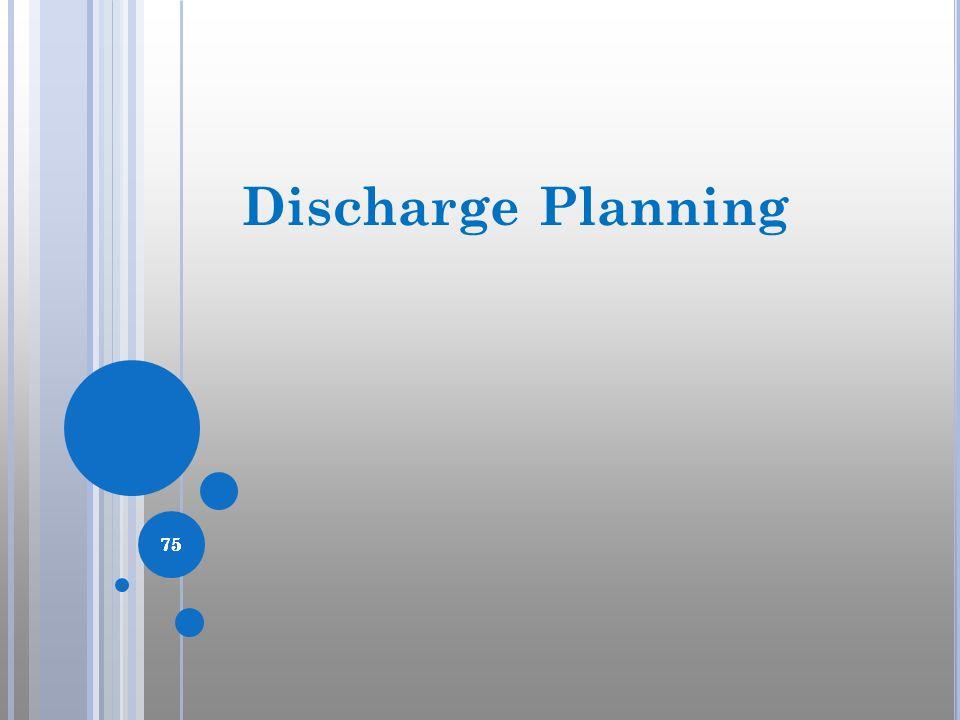 75 Discharge Planning 75