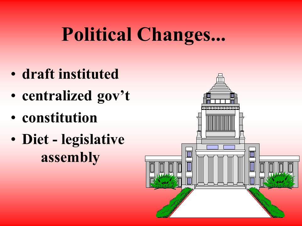 Social changes.... no social classes compulsory education