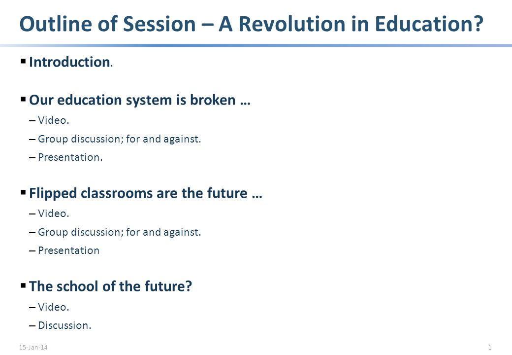A Revolution in Education GEMS Education Management Conference 14 June 2012