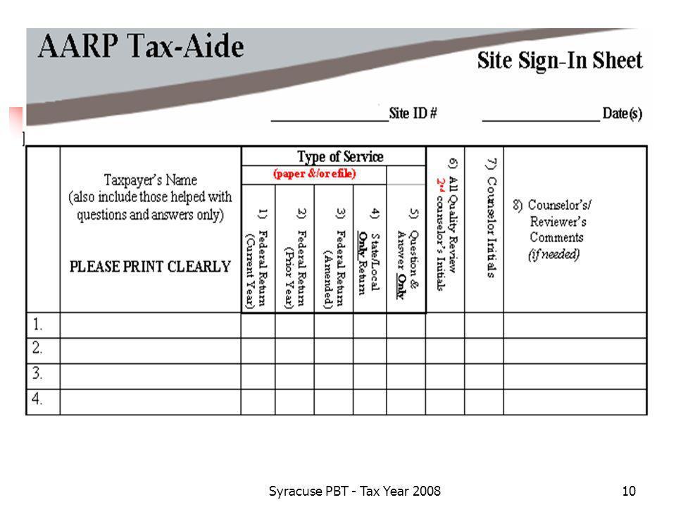 Syracuse PBT - Tax Year 200810