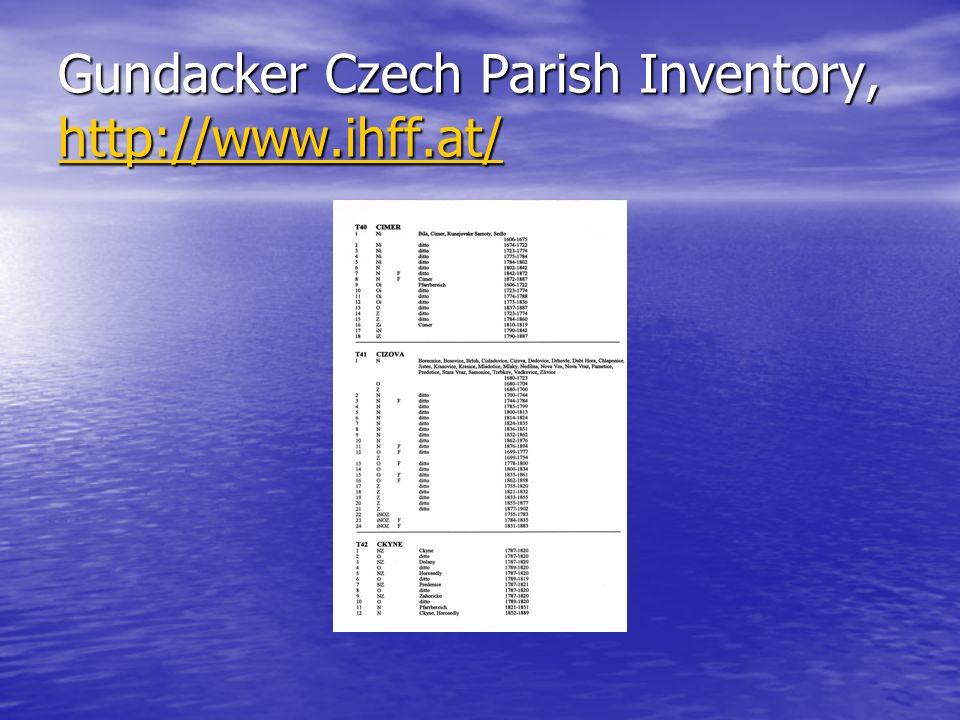 Gundacker Czech Parish Inventory, http://www.ihff.at/ http://www.ihff.at/ http://www.ihff.at/