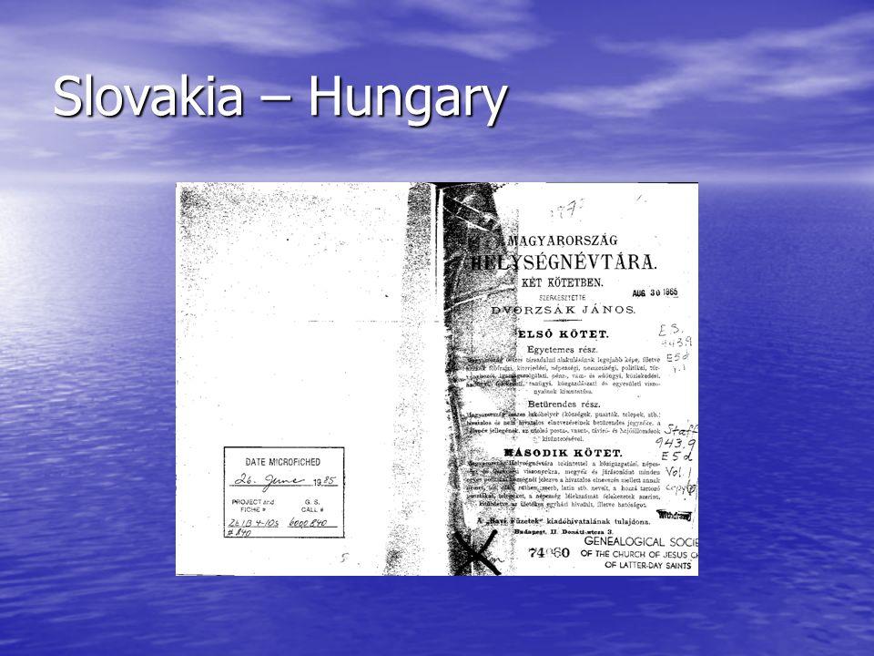 Slovakia – Hungary