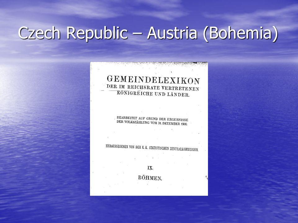 Czech Republic – Austria (Bohemia)