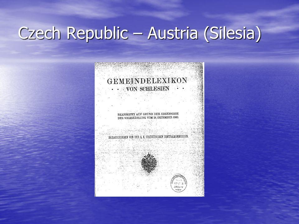 Czech Republic – Austria (Silesia)